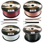 Lautsprecherkabel 100m - 2x0,5mm² - 100% CCA Kupfer ; Audiokabel