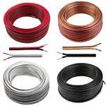 Audio Cable 25m - 2x0,5mm² - 100% CCA Copper ; white