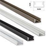 LED Aluminium Profil 1m 16x9mm (Typ A), Alu Schiene für LED Streifen