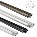 LED Aluminium Profil 1m 23mm 90° Eckprofil (Typ C), Alu Schiene für LED Streifen