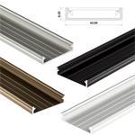 LED Aluminium Profil 1m extra breit 43x9mm (SOLIS), Alu Schiene für LED Streifen