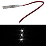 LED Model Train Lighting 20cm cable / 3LEDs 5cm / 12V / Pure-White 6000K