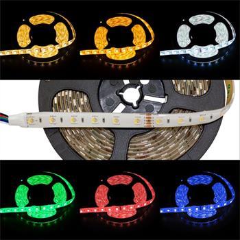 RGBW RGB+W 6000K LED Streifen / LED Strip 4in1 Chip 5m ; IP65 ; 300LEDs ; 24V