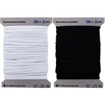 264m x 5mm Gummiband Gummilitze Kochfest 75/% Polyester 25/% Elastan 1m