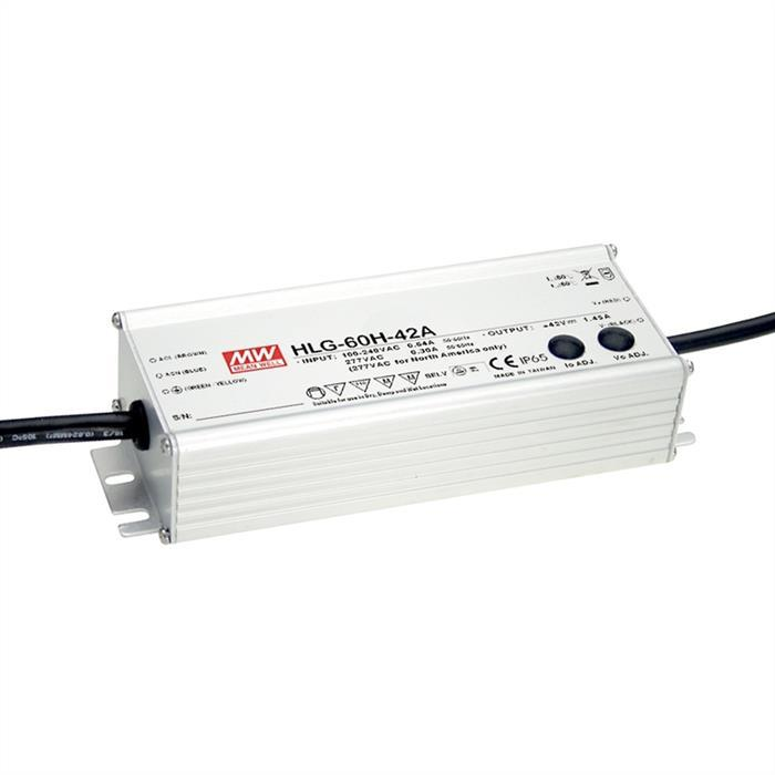 Alimentation LED 60w 24v 2,5a; MeanWell hlg-60h-24b; variateur 1-10v pwm