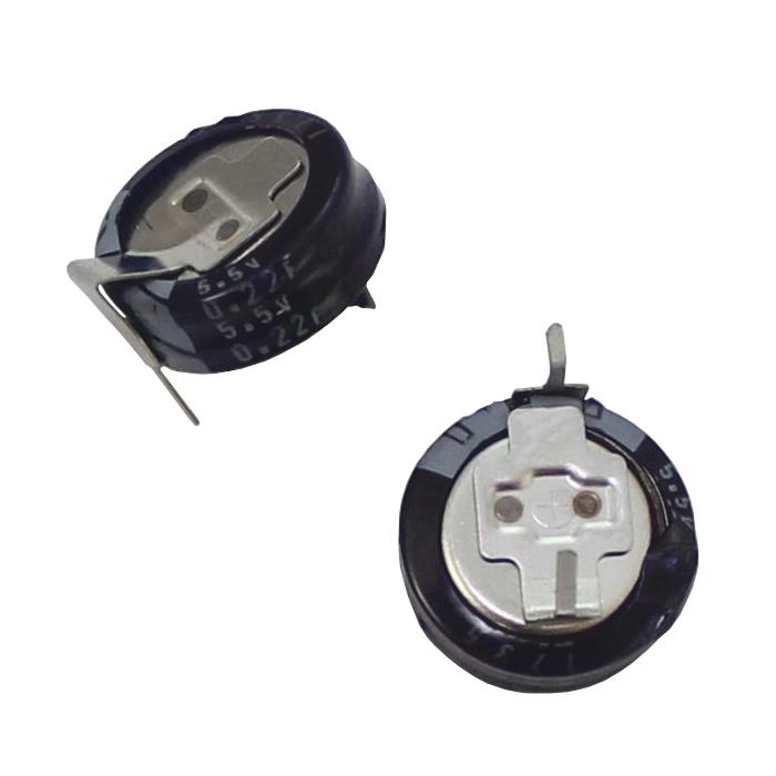 5x Goldcap Condensateur 0,22F 5,5V ; RM10 d11,5x5mm ; DX-5R5H224U