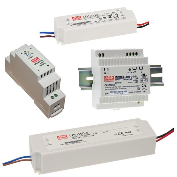 MeanWell-LED-Netzteile-DR-LPV-Schaltnetzteile-5V-12V-15V-24V-36V-48V
