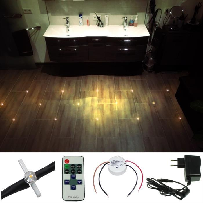 Tile Cross LED light joints floor tiles lighting + power ...