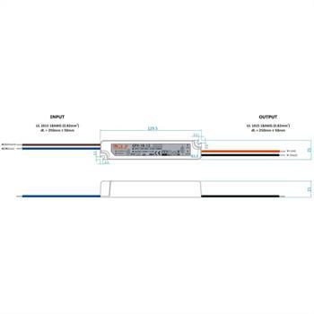 GPV-18-12 18W 12V 1,5A LED Netzteil IP67