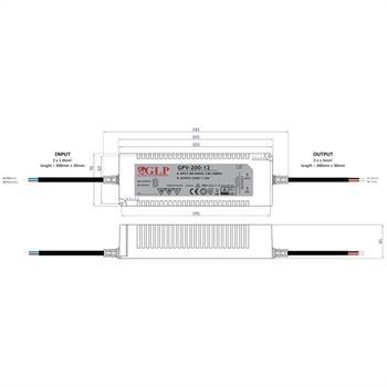 GPV-200-12 192W 12V 16A LED Netzteil IP67