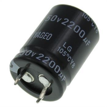 Snap-In Elko 2200µF 50V 105°C 22x30mm