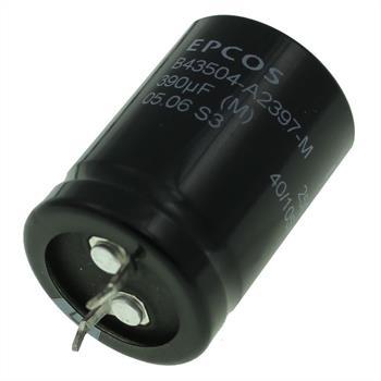 Snap-In Elko Kondensator 390µF 250V 105°C ; B43504A2397M ; 390uF