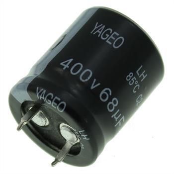 Snap-In Elko Kondensator 68µF 400V 85°C ; LH400M0068BPF-2225 ; 68uF
