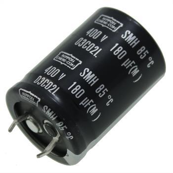 Snap-In Elko Kondensator 180µF 400V 85°C ; SMH400VNSN180M ; 180uF