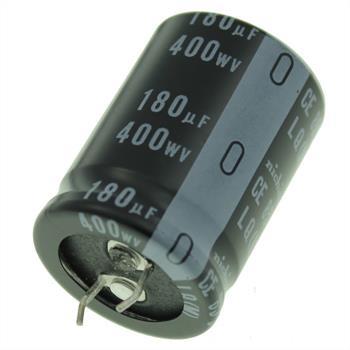 Snap-In Elko Kondensator 180µF 400V 85°C ; LLQ2G181MHSAW ; 180uF