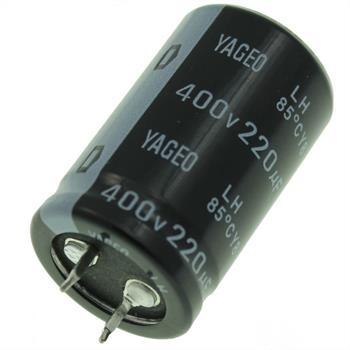 Snap-In Elko Kondensator 220µF 400V 85°C ; LH400M02220BPF-2540 ; 220uF