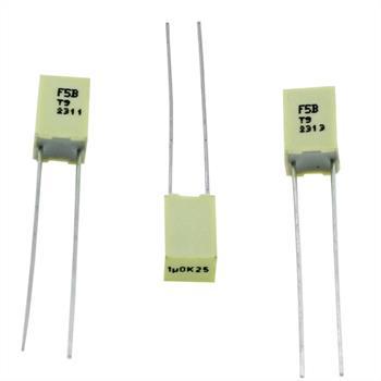 MKT-Kondensator radial 1µF 25V DC ; RM5 ; F5BHC4100Z9A7K ; 1uF