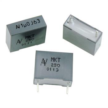 MKT-Capacitor rad. 1µF 63V DC ; 10mm ; R60DF4100JB30J ; 1uF