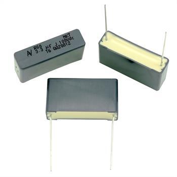 MKT-Kondens. rad. 3,3µF 100VDC RM27,5