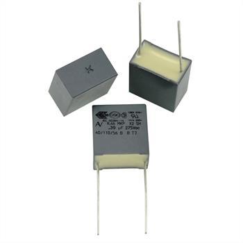 MKP-Kondens. rad. 0,39µF 275VAC RM15