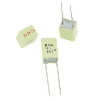 MKT-Capacitor rad. 2,2µF 25V DC ; 5mm ; F5AHC4220ZAA7K ; 2,2uF