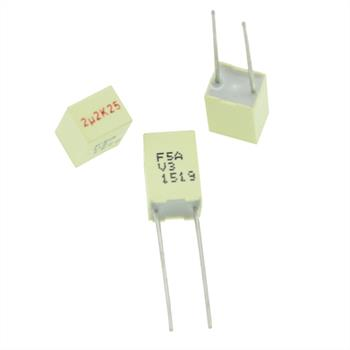 MKT-Kondens. rad. 2,2µF 25VDC RM5