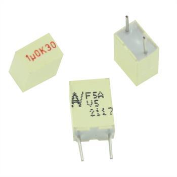 MKT-Capacitor rad. 1µF 30V DC ; 5mm ; F5AJC4100AAI6K ; 1uF