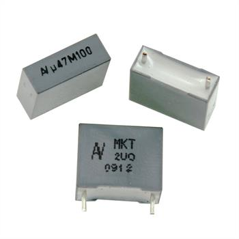 MKT-Kondens. rad. 0,47µF 100VDC RM10
