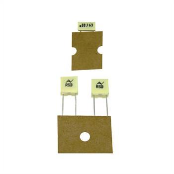 MKT-Capacitor rad. 0,33µF 63V DC ; 5mm ; RSBDC3330DQ00J ; 330nF