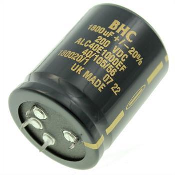 4-Pin Elko Kondensator 1800µF 200V 105°C ; ALC40E1000EF ; 1800uF