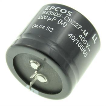 Snap-In Elko 220µF 400V 105°C 35x30mm