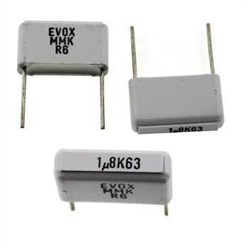 MKT-Capacitor rad. 1,8µF 63V DC ; 15mm ; MMK15185K63B04L12 ; 1,8uF