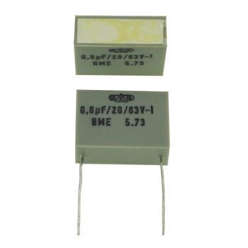 HME Folien Kondensator Radial 6,8µF 63V DC 6800nF