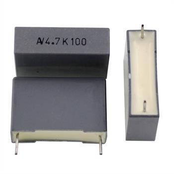 MFP-Kondens. rad. 4,7µF 100VDC RM22,5