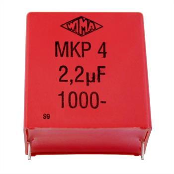 MKP-Kondensator radial 2,2µF 1000V DC ; RM37,5 ; MKP42,2/20/1000 ; 2,2uF