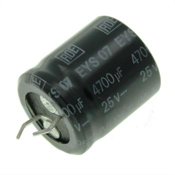 Snap-In Electrolytic Capacitor 4700µF 25V 105°C ; LEYS07LU447E01 ; 4700uF