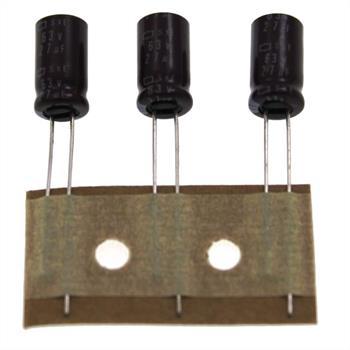 Elko rad. 27µF 63V 105°C RM2,5 6,3x11,5mm