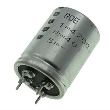 4-Pin Elko 4700µF 40V 85°C 30x40mm