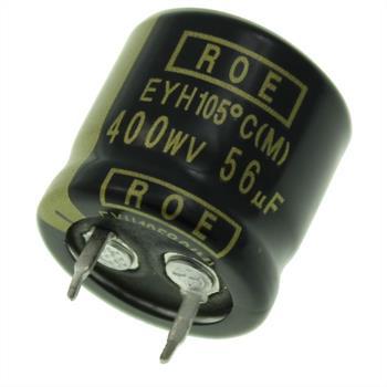 Snap-In Elko 56µF 400V 105°C 22x20mm