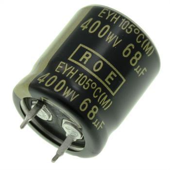 Snap-In Elko 68µF 400V 105°C 22x25mm