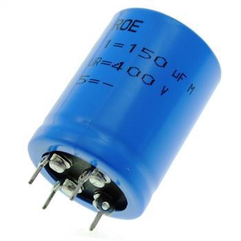 4-Pin Elko Kondensator 150µF 400V 85°C ; EYV00BB315X02V ; 150uF