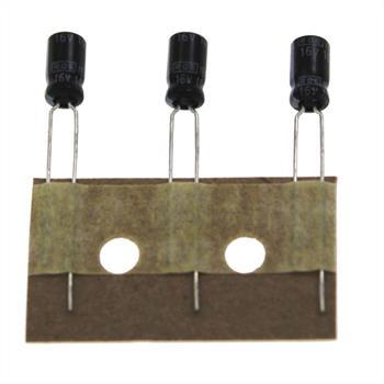 Elko Kondensator radial 10µF 16V 85°C ; EKF00MM210DM0K ; 10uF