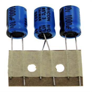 Elko rad. 1000µF 10V 85°C RM5 10x12,5mm