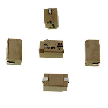 SMD-Elko 100µF 16V 105°C 14,3x6,2x6,9mm