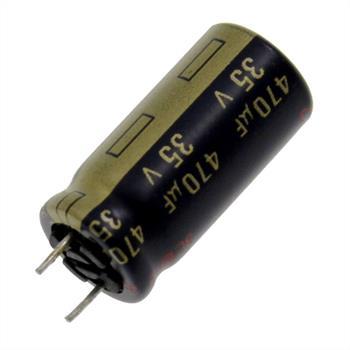 Elko rad. 470µF 35V 105°C RM5 10x20mm