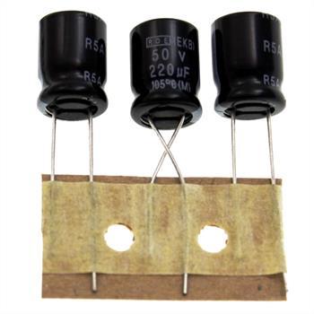 Elko rad. 220µF 50V 105°C RM5 10x12,5mm