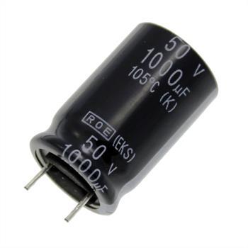 Elko rad. 1000µF 50V 105°C RM7,5 16x25mm