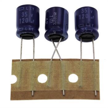 Elko rad. 120µF 35V 105°C RM5 10x12,5mm