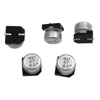 SMD Elko Kondensator 47µF 6,3V 85°C ; MV6,3VC47M BP F55 TPR E0 ; 47uF