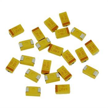 Tantal Kondensator SMD 15µF 35V 125°C ; Gr. D ; B45196H6156M409 ; 15uF